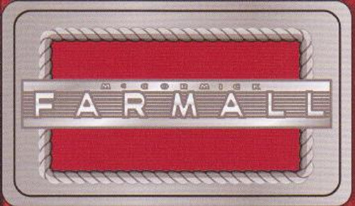 Rectangular Farmall Belt Buckle with Red Enamel