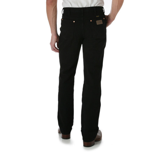 Men's Wrangler Black ProRodeo Slim Fit Boot Cut Jean