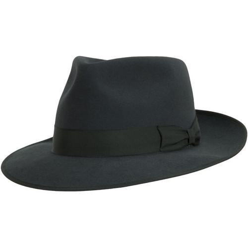 Akubra Stylemaster Carbon Grey Felt Fedora Hat