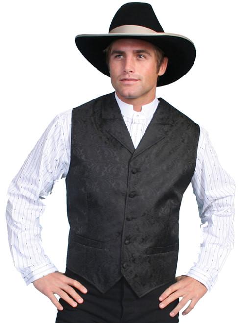 Men's Scully Black Western Dress Vest