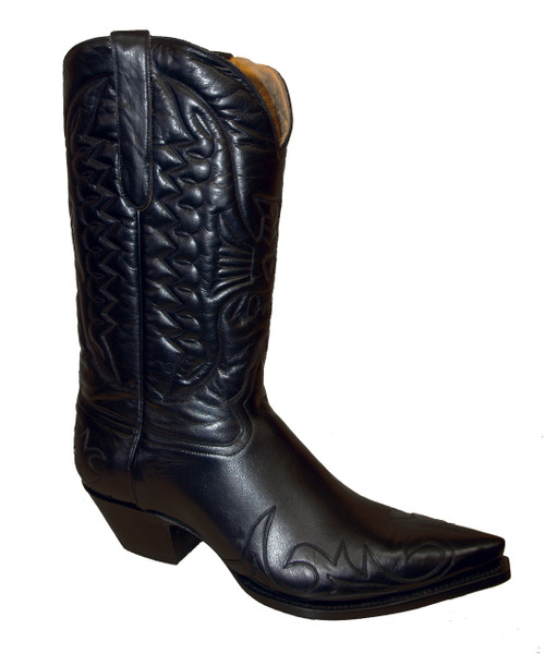 Liberty Boot Co.'s TB Aguilla Black on Black Cowboy Boot