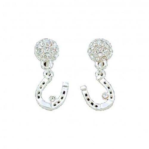 Montana Silversmiths Dangle Heart Crystal Earrings
