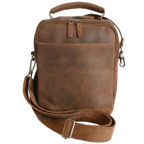 Adrian Klis Tablet  Leather Messenger Bag