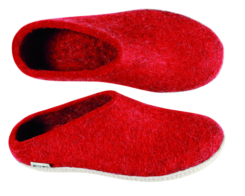 dcba459ab090 Glerups Red Wool Slipper - Herbert s Boots and Western Wear