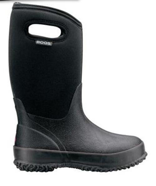 Kid's Bogs Classic Hi Black Winter Rubber Boot -34C