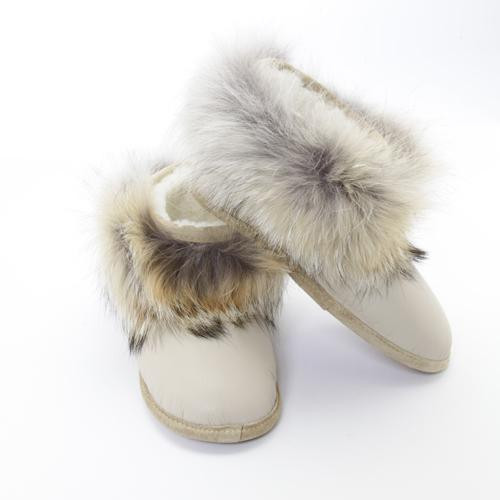 Women's Grenier Shearling and Coyote Beige Slippers