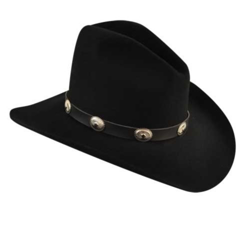 Bailey Tombstone Black Felt Western Hat - Herbert s Boots and ... db32eb299bea