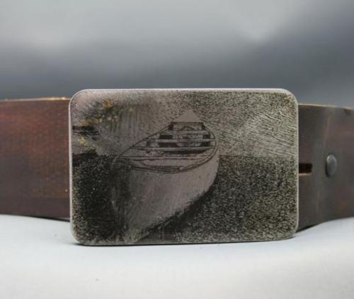 Gestalt Stainless Steel Canoe Belt Buckle