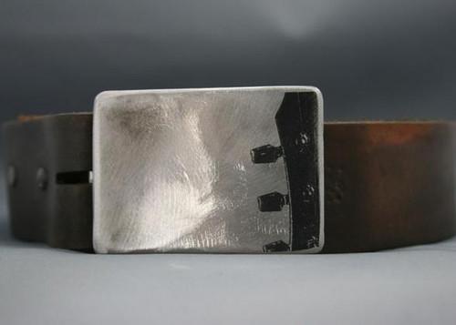Gestalt Stainless Steel Guitar Headstock Belt Buckle