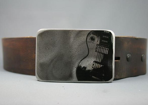 Gestalt Stainless Steel Electric Guitar Belt Buckle