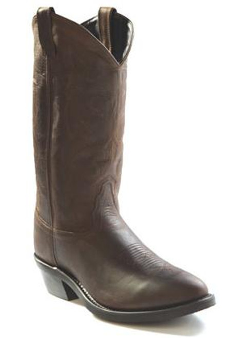 Men's Old West Distressed Brown Rounded Toe Western Boots