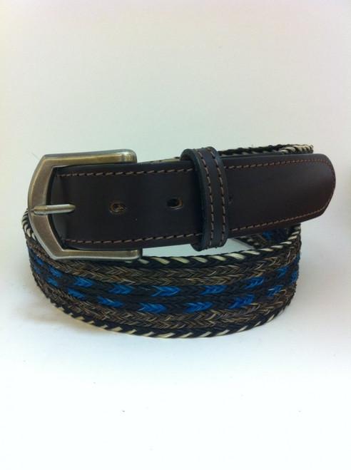 Colorado Horsehair Belt Brown/Turquoise