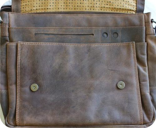 Adrian Klis Messenger Bag Front Zip 2751