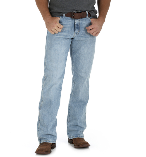 "Men's Wrangler Retro Relaxed Boot Cut ""Crest"" Jean"