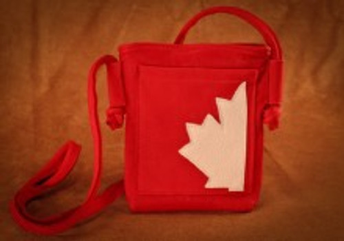 Hides in Hand Canadian Maple Leaf Purse