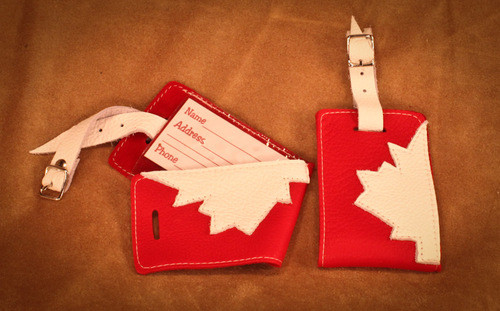 Hides in Hand Canadian Luggage Tag