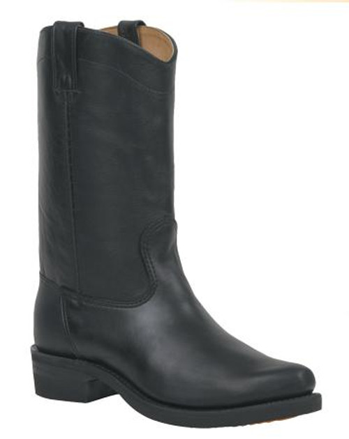 Canada West Narrow Square Toe Leather Bike Boot