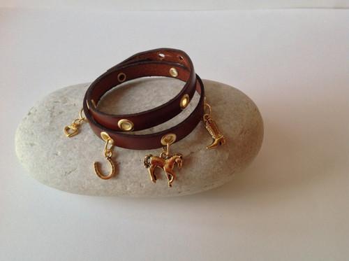 CEOriginals Double wrap gold charm bracelet