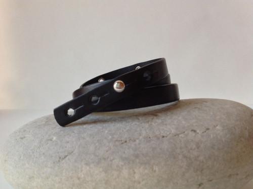 CEOriginals Double wrap bracelet with silver charms