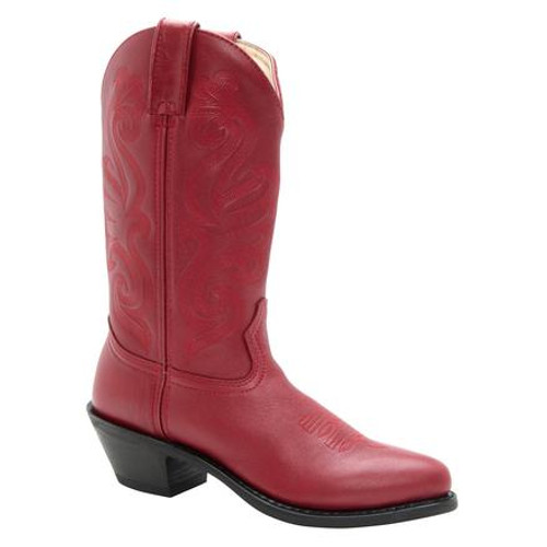 Women's Durango Red Medium Round Toe Cowboy Boot