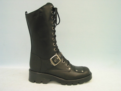 """Women's Martino 10"""" Lace-up with Zipper Motorcycle Boot"""