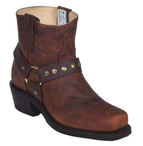 Women's Canada West Brown Pull-On Biker Boot