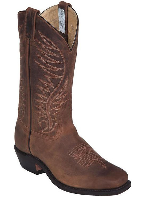 Men's Canada West Brown Square Toe Western Boot