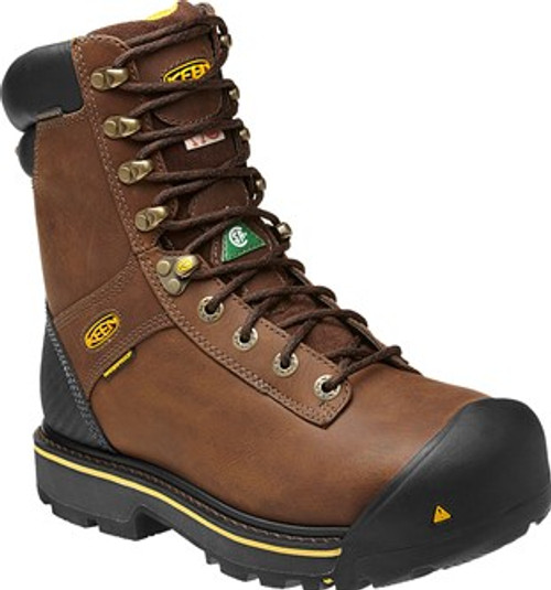 "Men's Keen 8"" Abitibi Uninsulated Waterproof CSA Safety Boot"