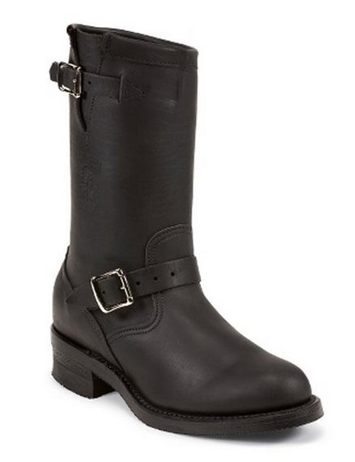 Men's Chippewa Black Engineer Boot