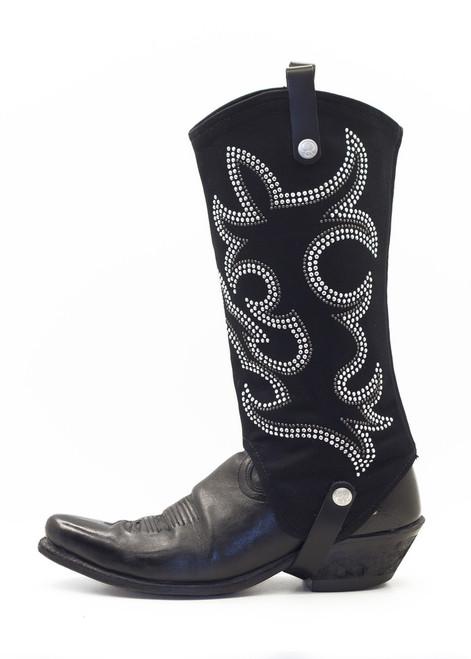 BootRoxx Cowgirl Black-Silver Boot Cover