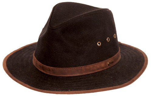 Outback Trading Madison River Brown Oilskin Fedora
