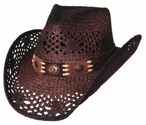"Bullhide ""Pure Country"" Brown Straw Hat"