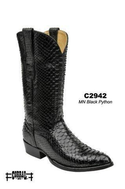 Men's Corral Black Python Western Boot