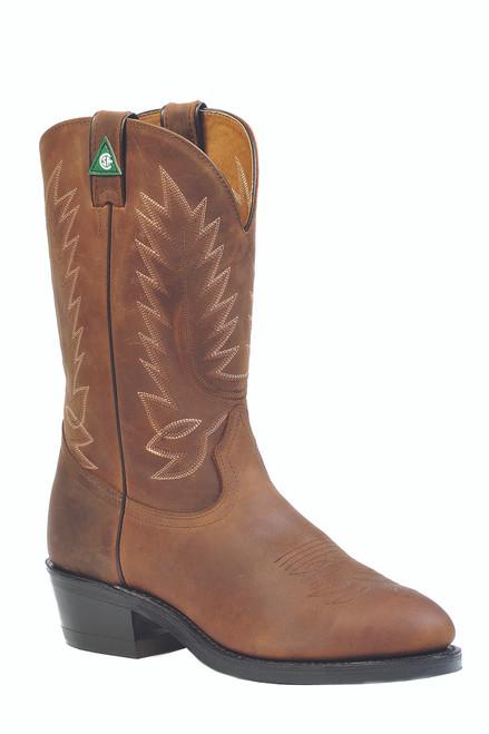 Men's Boulet Brown CSA Western Work Boot