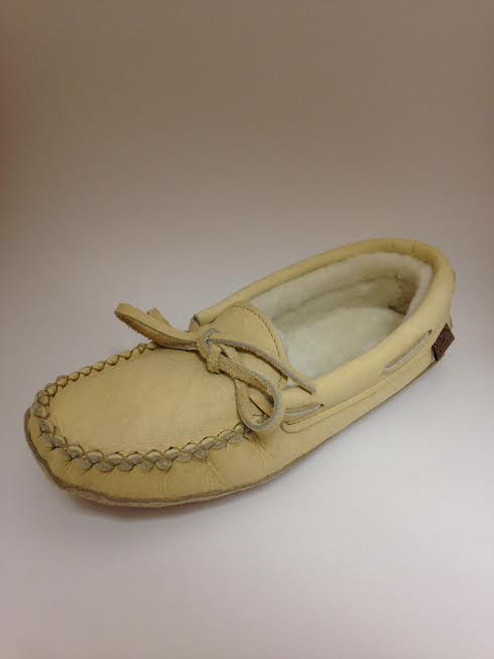 Women's Laurentian Chief Caribou Leather Shearling Lined Moccasin
