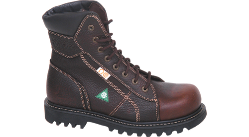 "CAT  8"" Confine Brown Safety Boot"