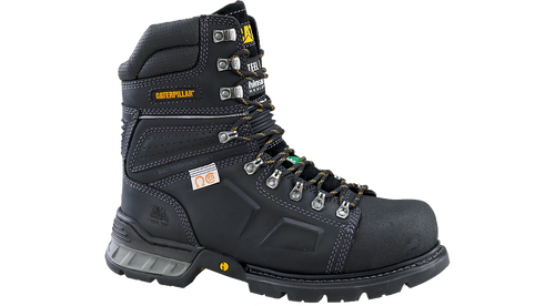 """CAT 8"""" Tensile Black Safety Boot"""