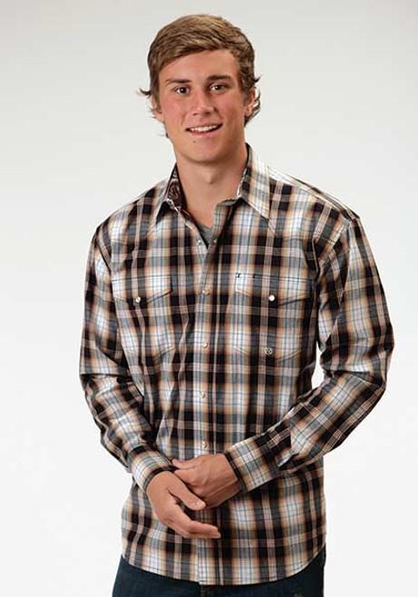 Men's Roper Driftwood Plaid Longsleeve Shirt