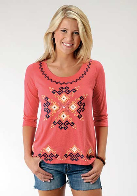 8c8467bf9c6 Roper Western Apparel. Women s Roper Tunic with Aztec Embroidery