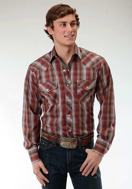 Men's Roper Earthy Plaid Shirt