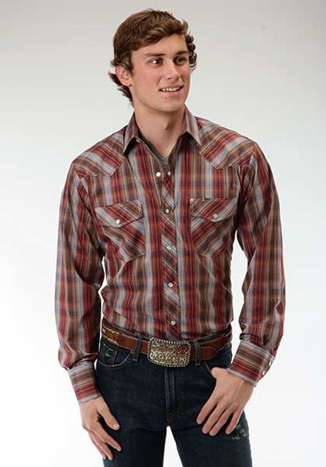 Men's Roper Earthy Plaid Shirt