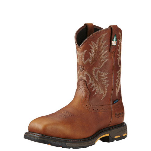 Men's Ariat Workhog H2O CSA Composite Toe Western Work Boot