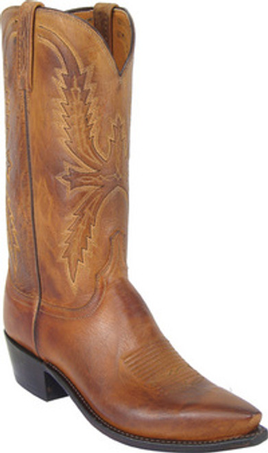 Lucchese Men's Tan Mad Dog Goat Western Boot