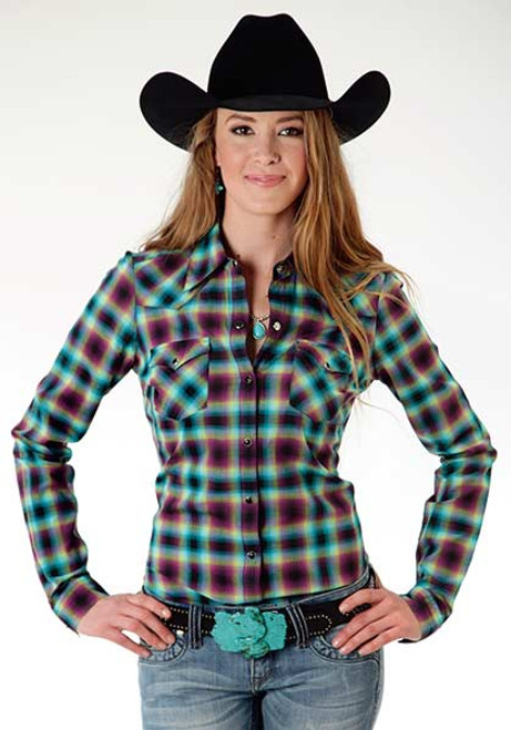 Women's Roper Ombre Plaid Shirt