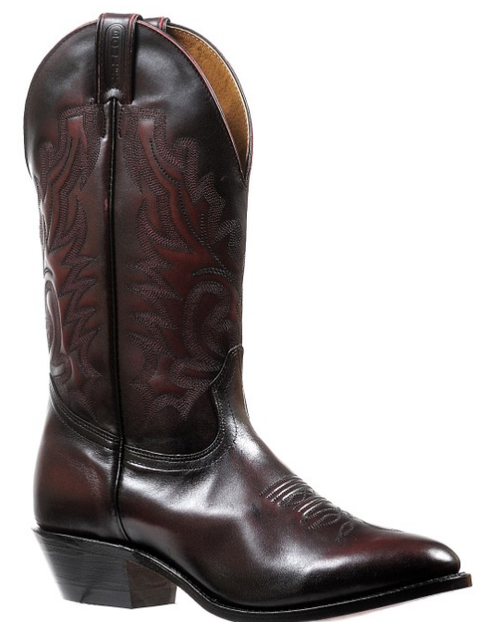 Men's Boulet Black Cherry Medium Round Toe Western Boot