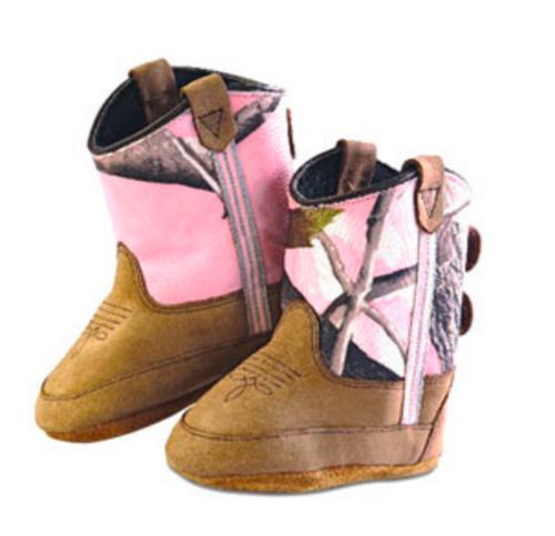 Old West Pink Camo Kid's Cowboy Boots (Infant's sz 0-4)