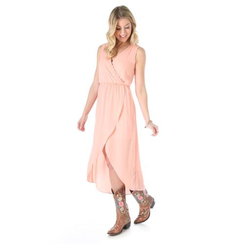6a713b4f1af99 Women s Wrangler Peach Sleeveless Dress - Herbert s Boots and ...