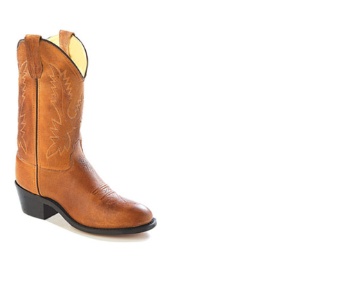 Old West Youth's Tan Cowboy Boot