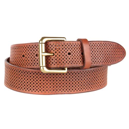 Brave Leather Cal Laser Cut Belt