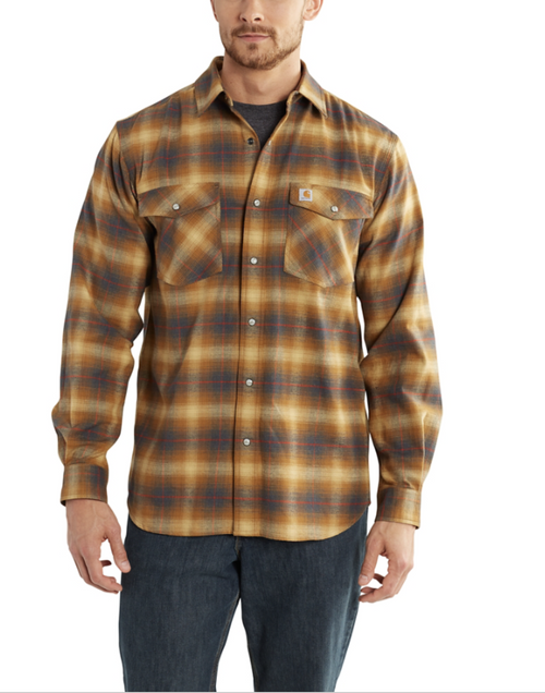 Men's Carhartt Rugged Flex Hamilton Snap-Front Plaid Shirt